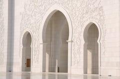 Detalle de jeque Zayed Mosque Fotografía de archivo libre de regalías