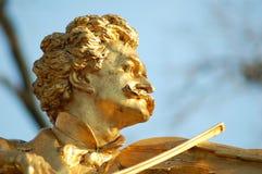 Detalle de Juan Strauss Viena imagenes de archivo