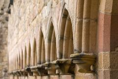 Detalle de la abadía de Bolton en los valles de Yorkshire Foto de archivo