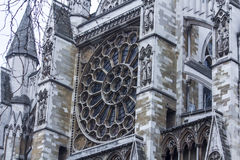 Detalle de la abadía de Westminster de la entrada Fotos de archivo libres de regalías
