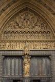 Detalle de la abadía de Westminster en Londres Imagen de archivo