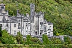 Detalle de la abadía de Kylemore, Connemara, al oeste de Irlanda Fotografía de archivo