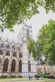 Detalle de la abadía de Westminster en centro de ciudad de Londres Imagen de archivo