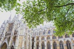 Detalle de la abadía de Westminster en centro de ciudad de Londres Imagen de archivo libre de regalías