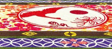 Detalle de la alfombra 2016 de la flor en Bruselas Imágenes de archivo libres de regalías