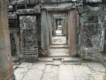 Detalle de la arquitectura de Angkor Wat Fotos de archivo libres de regalías