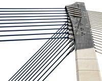 Detalle de la arquitectura moderna - cerradura del metal, acero en la construcción de puente Fotografía de archivo libre de regalías