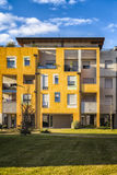 Detalle de la arquitectura moderna en Italia imagen de archivo