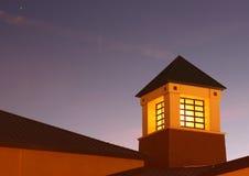 Detalle de la azotea en la noche Imagen de archivo libre de regalías
