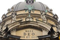 Detalle de la bóveda de la iglesia dominicana en Lviv Imágenes de archivo libres de regalías