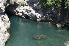 Detalle de la bahía de Amalfi, Salerno, Italia Foto de archivo libre de regalías