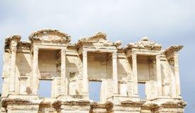 Detalle de la biblioteca de Celsus Fotografía de archivo