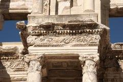 Detalle de la biblioteca de Celsus en Ephesus Fotos de archivo libres de regalías