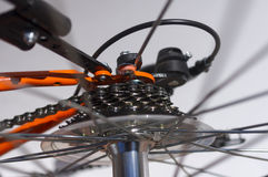 Detalle de la bici. Imagenes de archivo