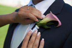 Detalle de la boda Fotografía de archivo