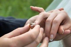 Detalle de la boda Fotos de archivo