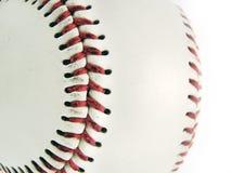 Detalle de la bola del béisbol Imagen de archivo
