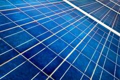 Detalle de la célula solar Fotos de archivo libres de regalías
