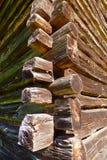 Detalle de la cabaña de madera de madera vieja fotografía de archivo libre de regalías
