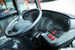 Detalle de la cabina del autobús del coche Imagen de archivo