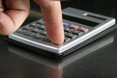 Detalle de la calculadora Imágenes de archivo libres de regalías