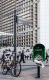 Detalle de la calle de la defensa del La Fotos de archivo