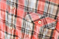 Detalle de la camisa de tela escocesa Fotografía de archivo libre de regalías