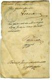 Detalle de la carta Fotos de archivo libres de regalías