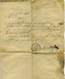 Detalle de la carta Fotografía de archivo