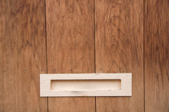 Detalle de la casa de madera del japonés del buzón Imagenes de archivo