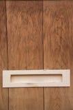 Detalle de la casa de madera del japonés del buzón Foto de archivo libre de regalías