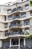 Detalle de la casa de Padrera del La de Antonio Gaudi Fotografía de archivo libre de regalías