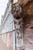 Detalle de la casa del diablo en Arnhem, Países Bajos Imagen de archivo