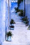 Detalle de la casa típica en Chefchaouen, Marruecos Fotos de archivo libres de regalías