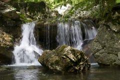 Detalle de la cascada fotografía de archivo