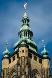 Detalle de la catedral de los santos Vitus Foto de archivo