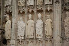 Detalle de la catedral de Notre Dame en Ruán Foto de archivo libre de regalías