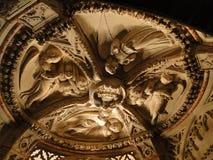 Detalle de la catedral de San Jaime en Sibenik Foto de archivo