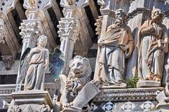Detalle de la catedral de Siena imagen de archivo libre de regalías
