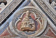 Detalle de la catedral de Siena fotos de archivo