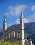 Detalle de la catedral de Soller Foto de archivo libre de regalías