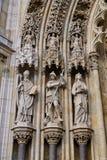 Detalle de la catedral gótica de Zagreb, Croacia imágenes de archivo libres de regalías