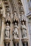Detalle de la catedral gótica de Zagreb, Croacia imagen de archivo libre de regalías