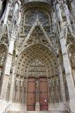 detalle de la catedral Notre Dame, Ruán, Normandía, Francia fotografía de archivo libre de regalías