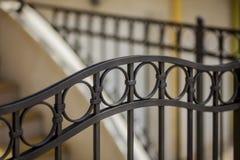 Detalle de la cerca decorativa del metal Fotografía de archivo
