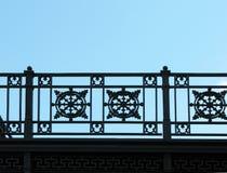 Detalle de la cerca del arrabio Imagen de archivo