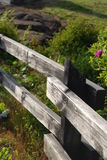 Detalle de la cerca en un campo Imagenes de archivo