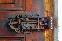 Detalle de la cerradura de puerta del vintage Fotos de archivo libres de regalías