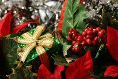 Detalle de la cesta de la Navidad Imagen de archivo