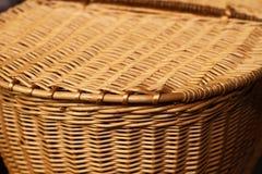 Detalle de la cester?a de la cesta de la comida campestre fotos de archivo libres de regalías